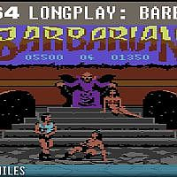 Barbarian / Death Sword - C64 Longplay / Full Playthrough / Walkthrough (no commentary) #retrogaming - YouTube
